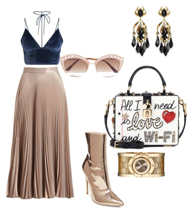 """""""Untitled #80"""" by varga-debora-beatriz on Polyvore featuring A.L.C., Steve Madden, Dolce&Gabbana and Gucci"""