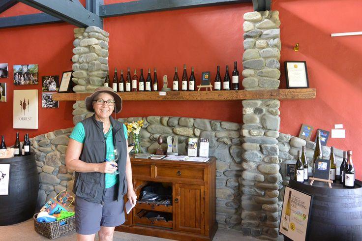 Spot of wine tasting on the Kiwi adventure.