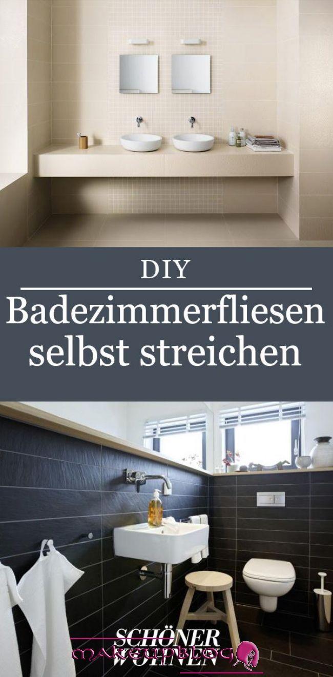 Fliesen Streichen In Kuche Amp Bad In 2020 Kitchen Remodel Bathroom Pictures Home Decor Fliesen Stre In 2020 Badezimmer Streichen Fliesen Streichen Bad Fliesen