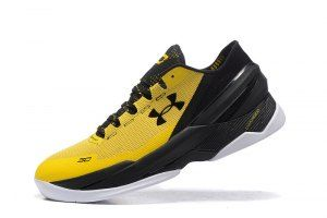 7c352923a0a5 Mens Under Armour UA Curry Two 2 Low Yellow Black Basketball Shoes ...