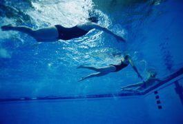 Swimming is a solid cardiovascular exercise that can help you attain the goal of six-pack abs. Combine it with land exercises to sculpt your middle.