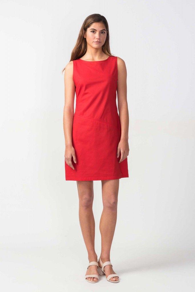 Robe Marske Rouge Skfk Idees De Mode Robe Facile Robe De Travail
