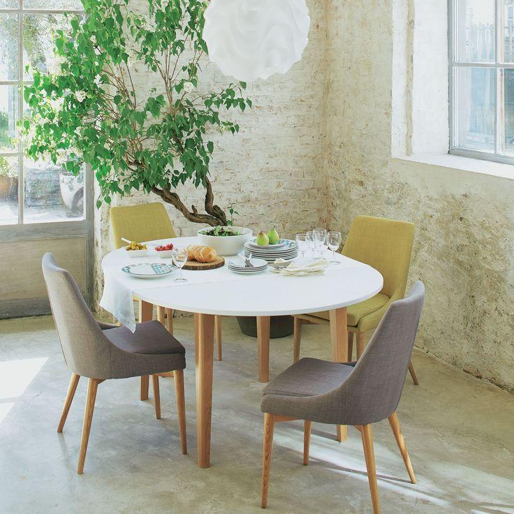 Table de repas ronde D120cm avec allonge - Siwa - Tables rondes, Tables carrées-Tables, Chaises-Salon, Salle à manger-Par pièce - Décoration intérieur - Alinea #design #decorationfrance #sallesàmanger http://www.delightfull.eu/en/