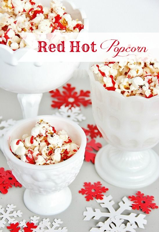 Red Hot Popcorn.  Easy recipe with a salty sugary mix.