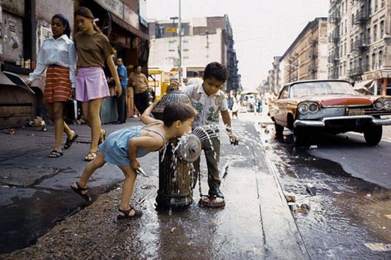 Flashbacks of the best way to cool off when I was a kid :) > 1970 Avenue C, Lower East Side NYC