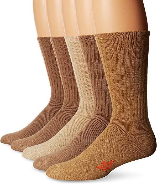 Dockers Mens 5 Pack Classics Dress Dashed Crew Socks