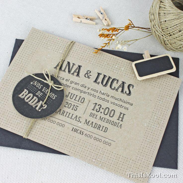 """Invitación de boda - """"PUNTITOS"""""""