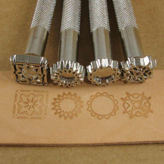 Spiral Designs Leder Stempel Set  Set von von florestanissupplies, $35.00