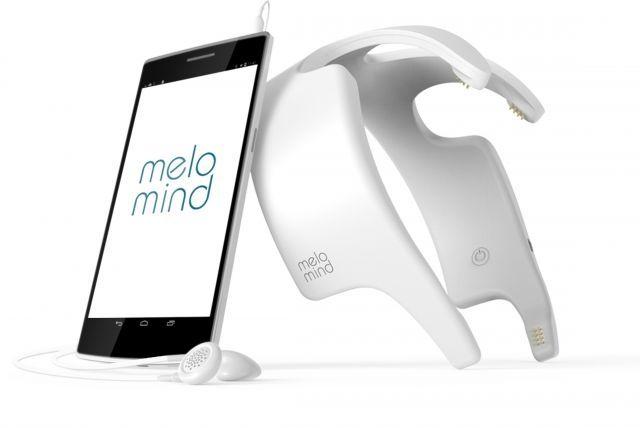 Melomind, ce casque connecté doublé d'une #applicationmobile a été conçu pour mesurer en temps réel les ondes cérébrales de la région pariétale grâce à 4 capteurs. #esanté #hcsmeufr  Crédit photo: DR