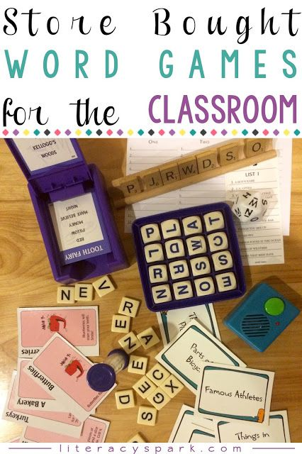 Looking for word games for kids? Check out these store bought word games perfect for building vocabulary and practicing word work skills in the classroom. Many are games for adults that you may already have around the house. Save on time, printer ink,