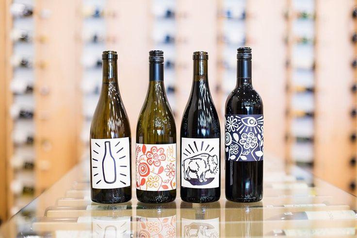 Silverlake Wine bottles with Eric Junker-designed labels