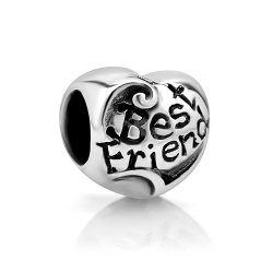 Best Friends Forever Pandora Charms. You and your bestie can both wear one #bestfriendpandoracharms #pandoracharms