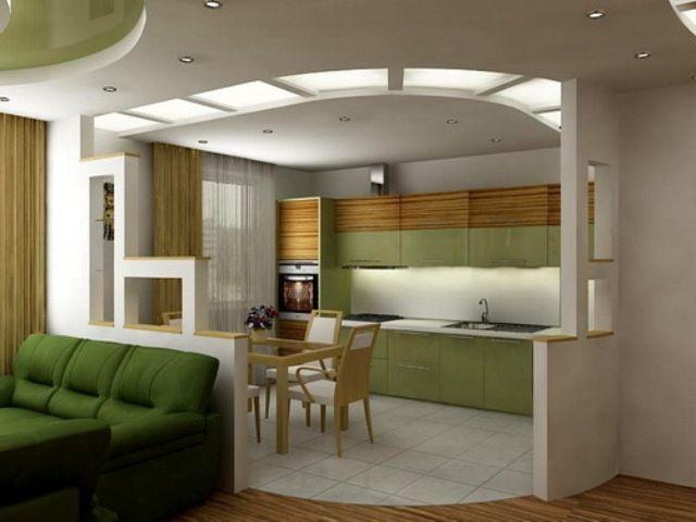 дизайн гостиной кухни39