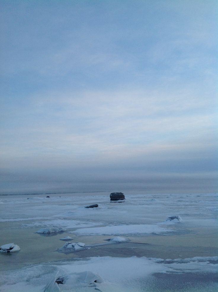 Isblå vinter