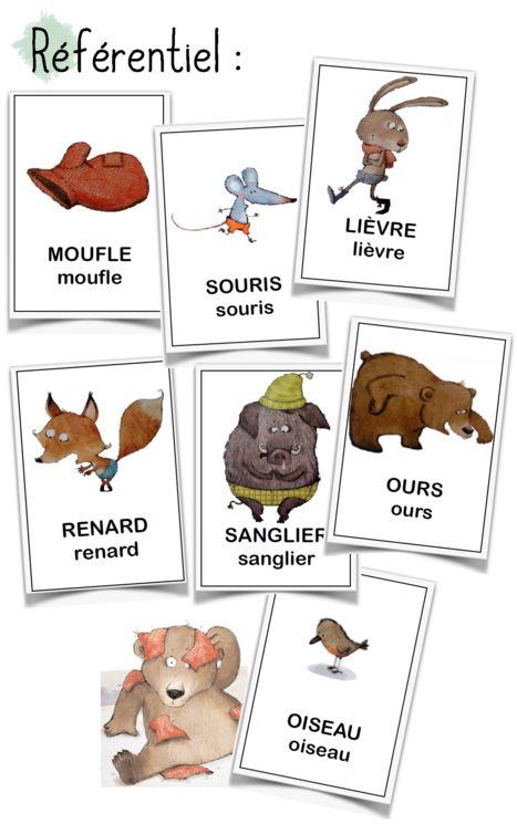 French flashcards. La moufle - référentiel