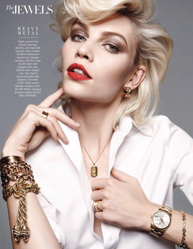 Aline Weber Shines for Amy Troost in Harper's Bazaar US March 2013