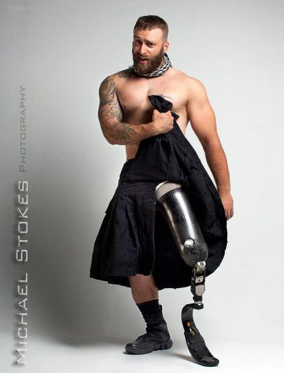 """""""All the other photos I've seen of wounded vets have been very downer,"""" Stokes told BuzzFeed. """"I wanted to produce photos that would really show him, let him decide how he wanted to be portrayed."""" Picture: Michael Stokes"""