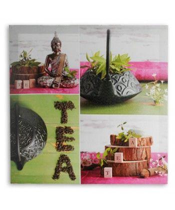 Acheter Tableau Bouddha Tea Lin 50 x 50 cm au meilleur prix. Si vous voulez donner une touche de détente à la décoration de votre maison, vous pourrez le faire élégamment avec ce tableau design Bouddha, tellement à la mode à présent en décoration.