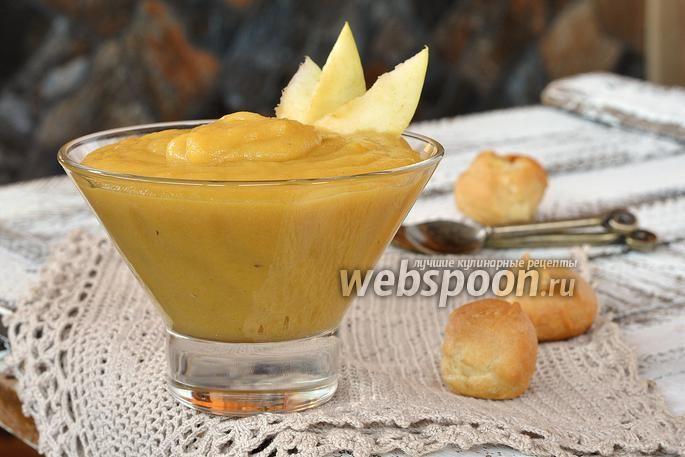 Фото Заварной яблочный крем с маслом