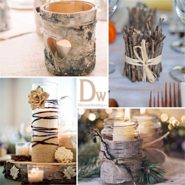 Зимняя свадьба в стиле рустик | DiscoverWedding.ru