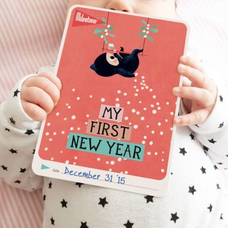 My First New Year Card for your Baby: http://www.milestonecards.com/en/news/2015/12//115
