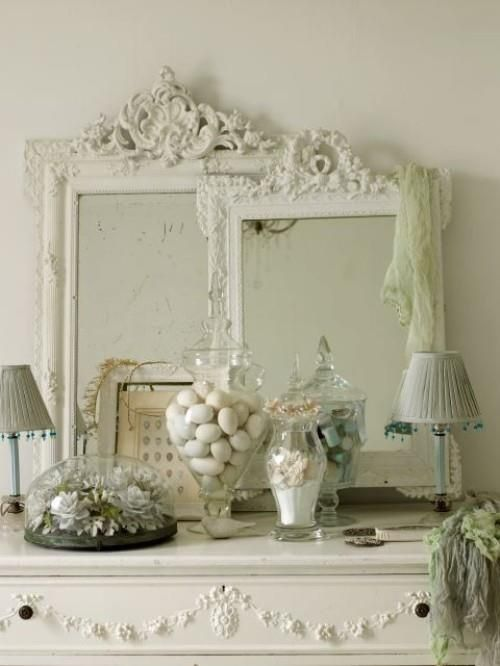 painted gesso mirrors