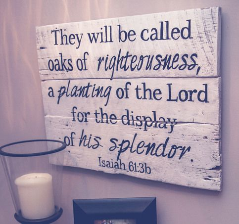 Our Oaks of Righteousness piece measures approximately 28X20 and is available in several wood finishes and text color options.  All OGDS signs come ready to hang with hardware included as well as a no tool required hook for easy hanging. Pieces are also beautifully wrapped and include a gift tag.