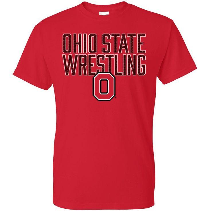 Ohio State Buckeyes Mesh Fill Wrestling T-Shirt