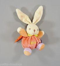 Doudou lapin velours rouge Kaloo 18 cm