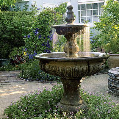 Free plan a garden of outdoor rooms geraniums fountain and patio - Care geraniums flourishing balcony porch ...