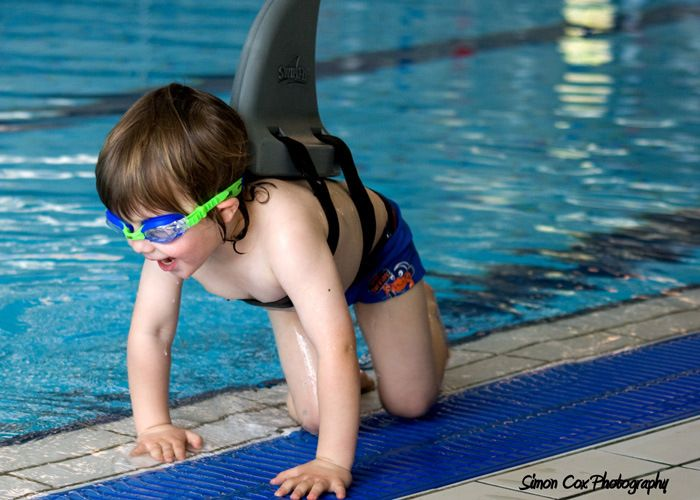 Shark Fin-Shaped Swimming Aid Teaches Your Trout to Swim Upstream -  #safety #sharks #swimming