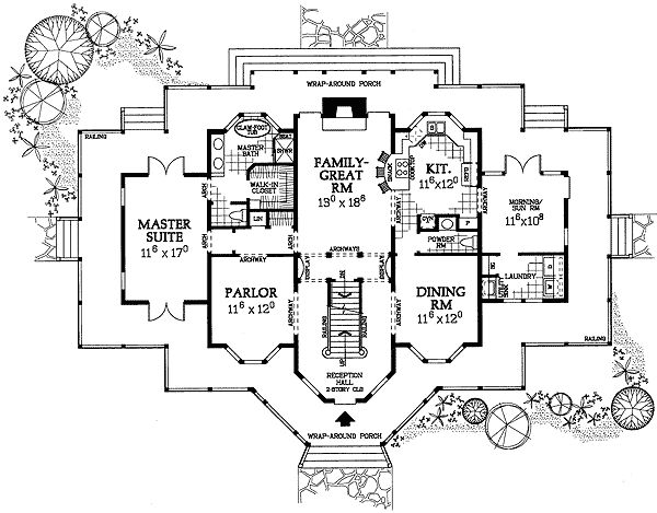 Elegant Plan 81306W: Delightful Victorian Farmhouse Plan