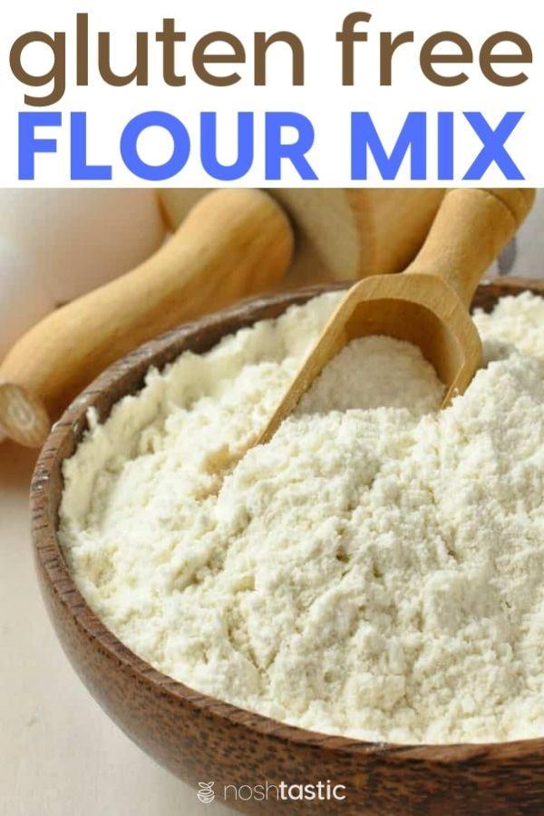 Quick and easy guide to make your own gluten free flour mix. #glutenfree #noshta…