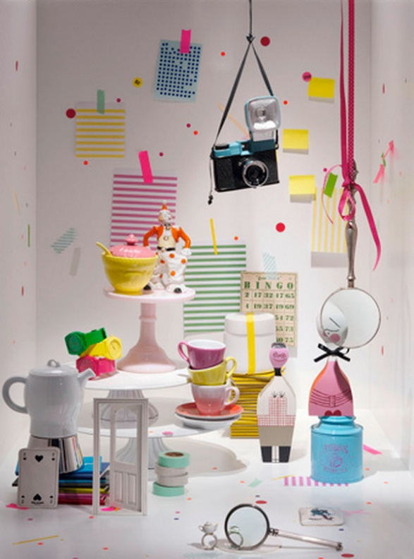 Irina Graewe's interior still life concept. A Diana lomo camera and a tea party! Love the mix of colours.