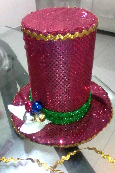 Sombrero muñeco navidad luminoso