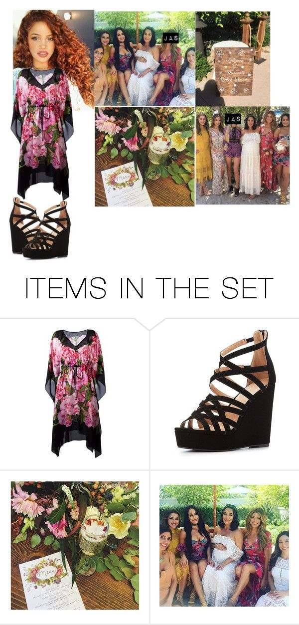 """Jasmine Going To Brie Bella Baby Shower"" by dani-loves-wwe-music ❤ liked on Polyvore featuring art"