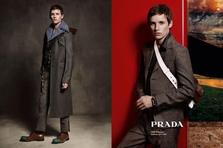 Oscar-Preisträger Eddie Redmayne ist das Gesicht der Menswear-Herbstkampagne 2016 aus dem Hause Prada, fotografiert wurde er von Craig McDean.