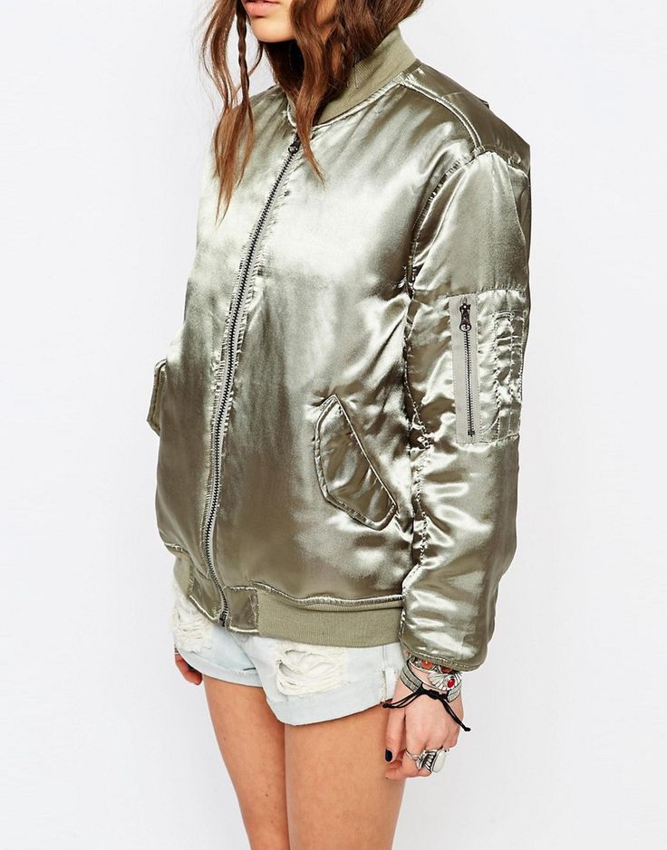 Young Bohemians Bomber In Luxe Khaki