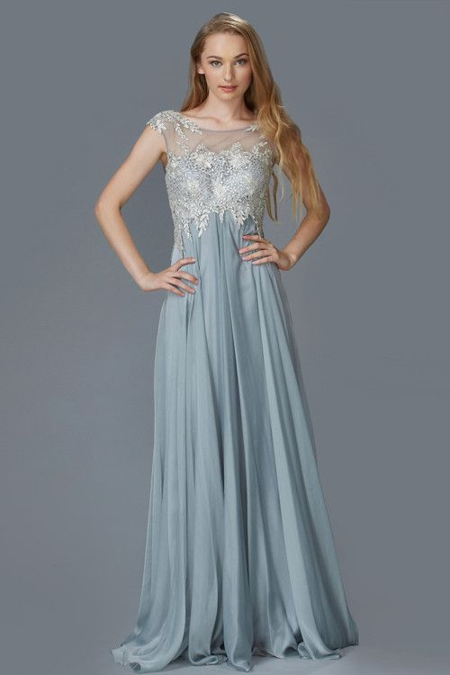 Prima Bella Exclusive Collection Chiffon Evening Gown With A Beaded