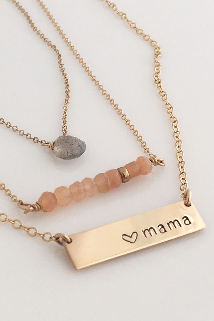 Our personalized handstamped nameplate necklace can be customized with names, symbols, initials or leave it blank! Comes in 14k gold fill or Sterling Silver. Perfect gift for her! WE USE 20 GAUGE GOLD FILL & STERLING SILVER