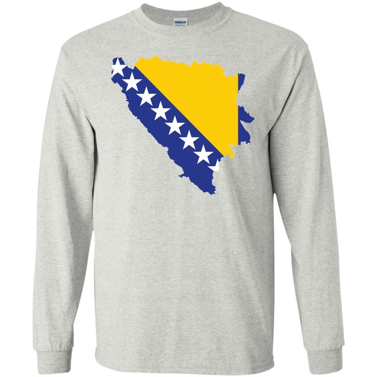 Bosnia flag -01 LS Ultra Cotton Tshirt