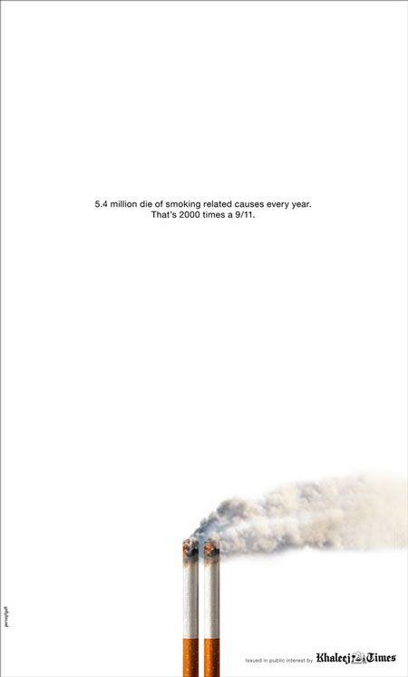 Dubai anti-smoking newspaper ad mocks 9/11