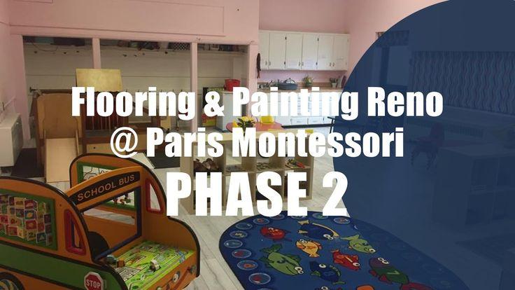 Phase 2 Flooring and Painting Reno at Paris Montessori