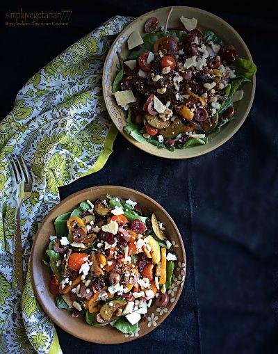 Mediterranean Warm Salad by simplyvegetarian777 #Salad #Warm_Salad #Comfort_Food #Healthy