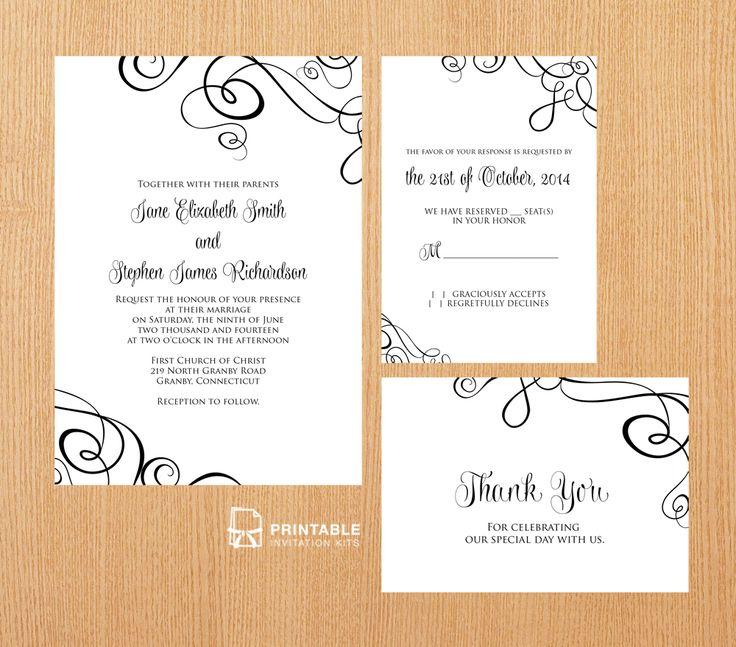 Downloadable Wedding Invitation Templates: 206 Best Images About Wedding Invitation Templates (free
