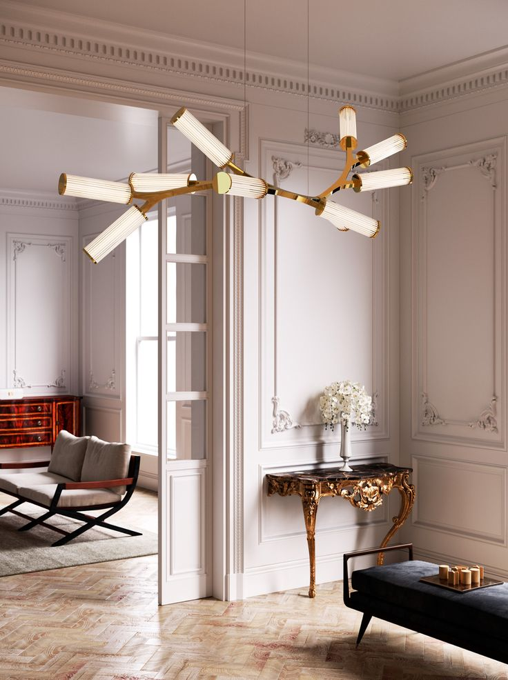 Direct light brass pendant lamp haara by cameron design house