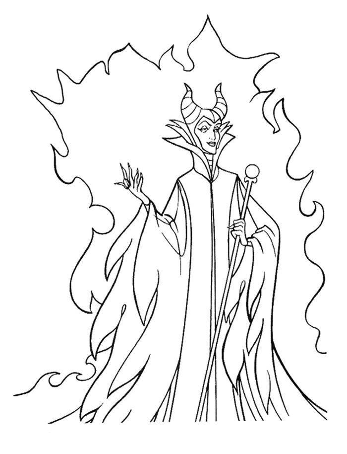 Maleficent Magic Coloring Pages Com Imagens Desenhos Animados