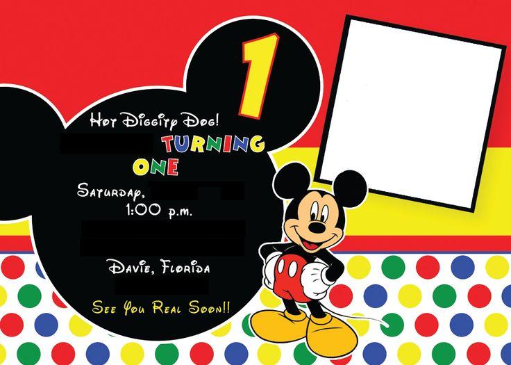 Boy Mickey Invitation - bynedesigns.com