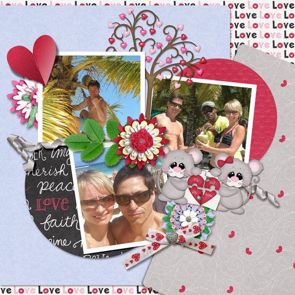 Layout by KittenScraps using Love U 2 Pieces Kit