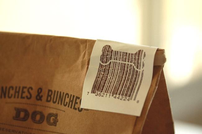 Creative barcode for dog food!